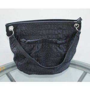 Nicole Miller New York Black Quilted Handbag Purse